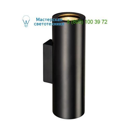 151800 SLV by Marbel ENOLA_B UP-DOWN светильник настенный для 2-х ламп GU10 по 50Вт макс., черный