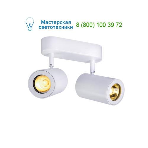 152021 SLV by Marbel ENOLA_B DOUBLE SPOT светильник накладной для 2-х ламп GU10 по 50Вт макс., белый