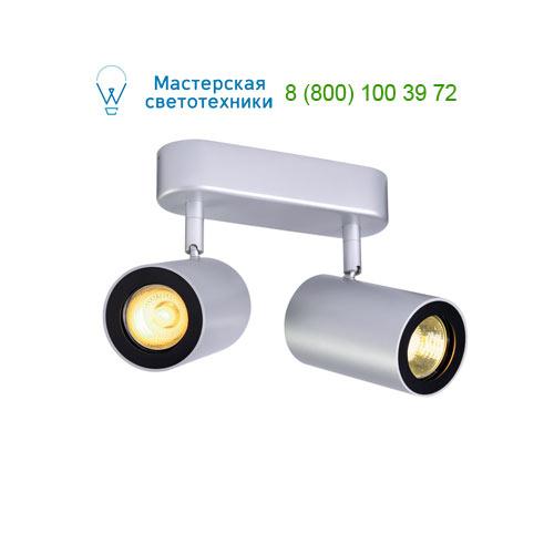 152024 SLV by Marbel ENOLA_B DOUBLE SPOT светильник накладной для 2-х ламп GU10 по 50Вт макс., серебристый/ черный