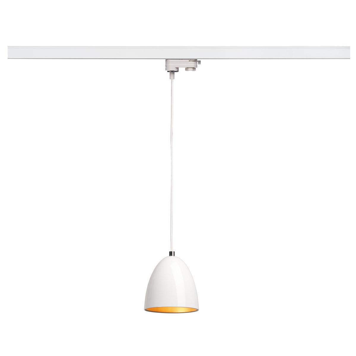 153141 SLV by Marbel 3Ph, PARA CONE 14 светильник подвесной для лампы GU10 35Вт макс., белый/ золото