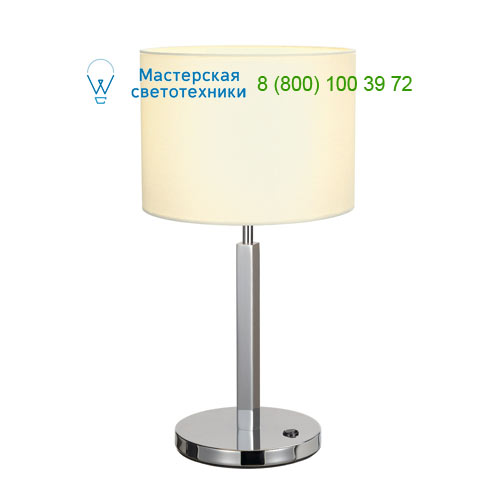 156041 SLV by Marbel TENORA TL-1 светильник настольный для лампы E27 60Вт макс., хром/ белый