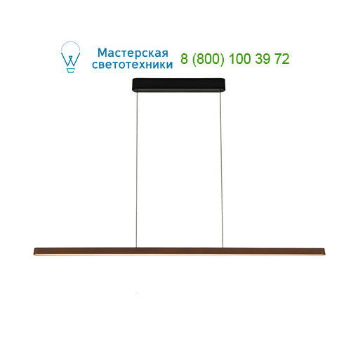 156227 SLV by Marbel VINCELLI PD светильник подвесной с LED 27Вт, 2700K, 1630lm, 120°, черный/ бамбук