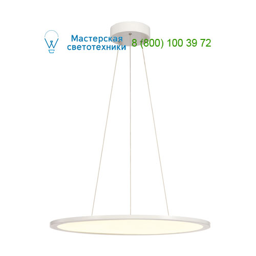 158623 SLV by Marbel LED PANEL ROUND светильник подвесной с LED 39.8Вт, 3000K, 2630lm, 110°, диммируемый 1-10В, белый