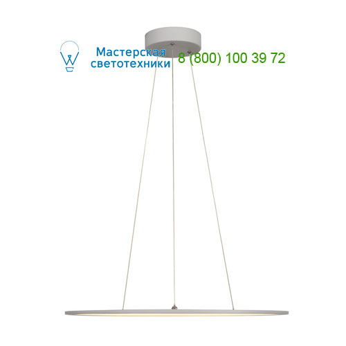 158632 SLV by Marbel LED PANEL ROUND светильник подвесной с LED 39.8Вт, 2700K, 2630lm, 110°, диммируемый 1-10В, серебр.