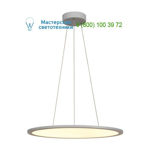 158633 SLV by Marbel LED PANEL ROUND светильник подвесной с LED 39.8Вт, 3000K, 2630lm, 110°, диммируемый 1-10В, серебр.