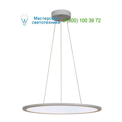 158634 SLV by Marbel LED PANEL ROUND светильник подвесной с LED 39.8Вт, 4000K, 2930lm, 110°, диммируемый 1-10В, серебр.