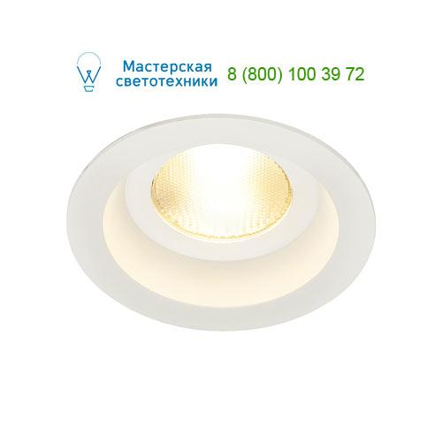 161291 SLV by Marbel CONTONE® ROUND светильник встраиваемый IP44 с COB LED 13Вт (16Вт), 3000К-2000К, 890lm, с БП, белый