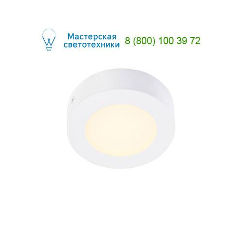 162903 SLV by Marbel SENSER ROUND 6W светильник накладной 230V c SMD LED 6Вт (6.7Вт), 3000K, 230lm, c БП, белый