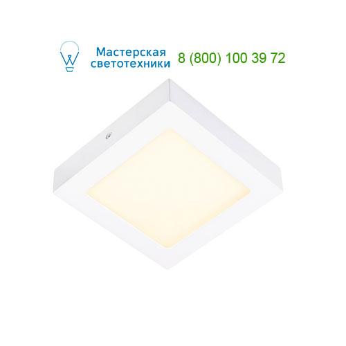 162973 SLV by Marbel SENSER SQUARE 10W светильник накладной 230V c SMD LED 10Вт (14Вт), 3000K, 500lm, c БП, белый