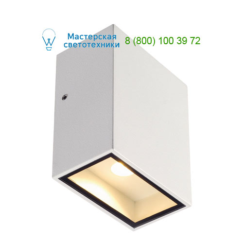 232431 SLV by Marbel QUAD 1 XL светильник настенный IP44 с COB LED 4.5Вт, 3000K, 290lm, 110°, белый