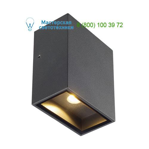 232435 SLV by Marbel QUAD 1 XL светильник настенный IP44 с COB LED 4.5Вт, 3000K, 260lm, 110°, антрацит