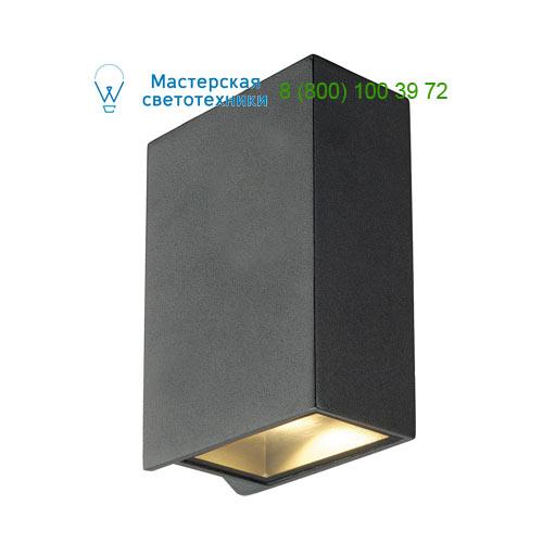 232445 SLV by Marbel QUAD 2 XL светильник настенный IP44 с COB LED 8.6Вт, 3000K, 520lm, 110°, антрацит