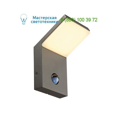 232915 SLV by Marbel ORDI SENSOR светильник настенный IP44 c SMD LED 9Вт, 3000K, 500lm, с датчиком движения, антрацит