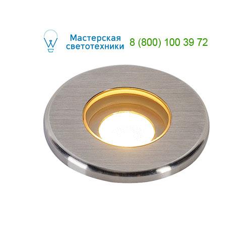 233540 SLV by Marbel DASAR® LED MINI ROUND светильник встраиваемый IP67 12-24В= c PowerLED 2Вт, 3000К, 120lm, 31°, сталь