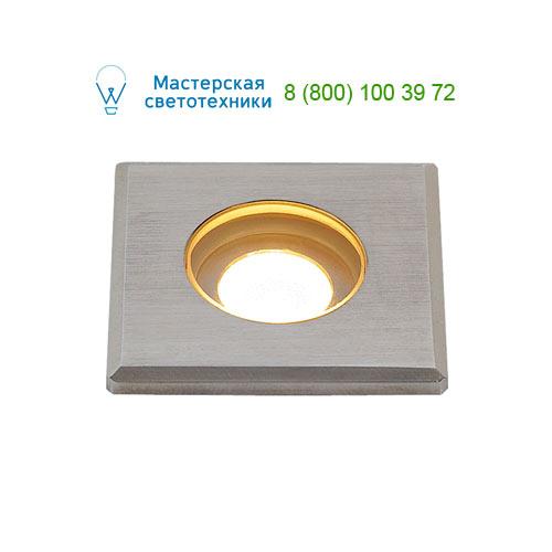 233550 SLV by Marbel DASAR® LED MINI SQUARE светильник встраиваемый IP67 12-24В= c PowerLED 2Вт, 3000К, 120lm, 31°, сталь