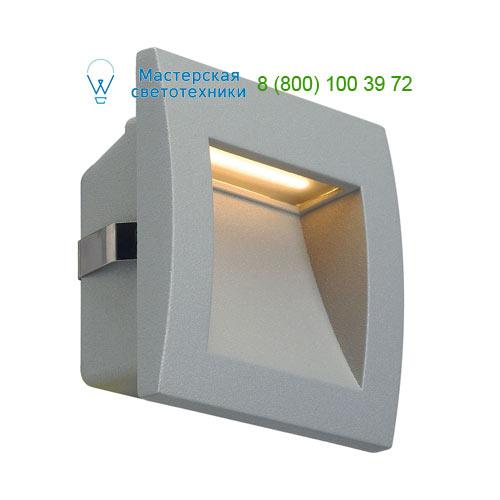 233604 SLV by Marbel DOWNUNDER OUT LED S светильник встраиваемый IP55 c SMD LED 0.96Вт (1.7Вт), 3000К, 30lm, серебристый