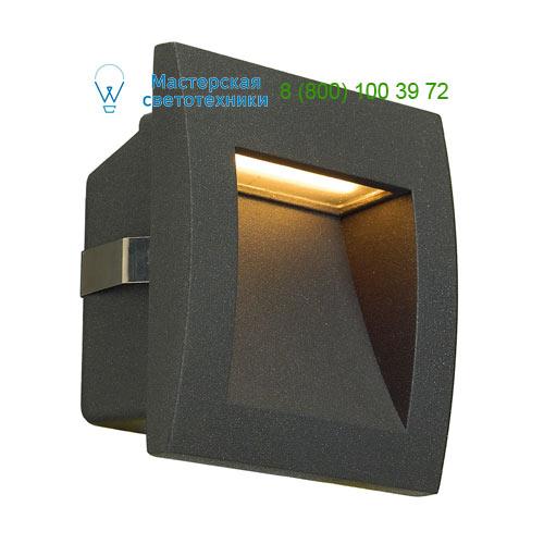 233605 SLV by Marbel DOWNUNDER OUT LED S светильник встраиваемый IP55 c SMD LED 0.96Вт (1.7Вт), 3000К, 25lm, антрацит