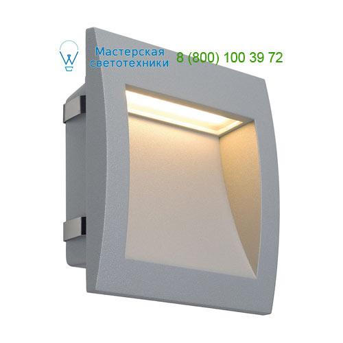 233614 SLV by Marbel DOWNUNDER OUT LED L светильник встраиваемый IP55 c SMD LED 0.96Вт (3.3Вт), 3000К, 110lm,серебристый