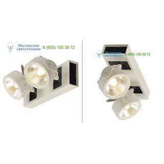 1000114 SLV by Marbel KALU 2 LED светильник накладной с COB LED 34Вт, 3000К, 2000лм, 24°, белый/ черный