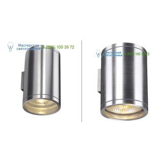 1000334 SLV by Marbel ROX UP-DOWN OUT светильник настенный IP44 для 2-х ламп ES111 по 50Вт макс., матированный алюминий