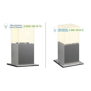 1000344 SLV by Marbel SQUARE POLE 30 светильник IP44 для лампы E27 20Вт макс., матированный алюминий/ белый