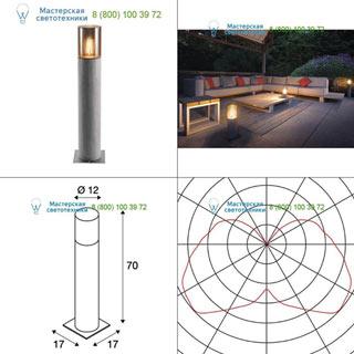 1000666 SLV by Marbel LISENNE POLE 70 светильник IP54 для лампы E27 23Вт макс., серый базальт/ дымчатое стекло