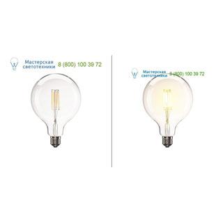 1001038 SLV by Marbel LED E27 G125 источник света LED, 220В, 8Вт, 330°, 2700K, 806лм, диммируемый, прозрачная колба