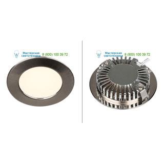 112165 SLV by Marbel DL 126 LED светильник встраиваемый с 6 SMD LED, 2.8Вт, 2700K, 160лм, 90°, 12B=, матированный металл