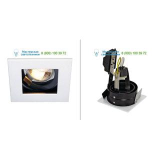 112471 SLV by Marbel INDI REC 1S GU10 светильник встраиваемый для лампы GU10 50Вт макс., белый / черный