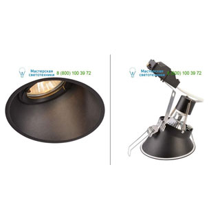 113150 SLV by Marbel HORN-A GU10 светильник встраиваемый IP21 для лампы GU10 50Вт макс., черный