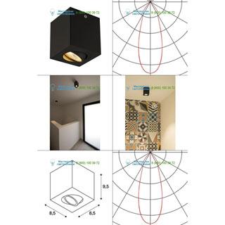 113940 SLV by Marbel TRILEDO SQUARE CL светильник потолочный с COB LED 6.2Вт (8.2Вт), 3000К, 90°, 625лм, черный