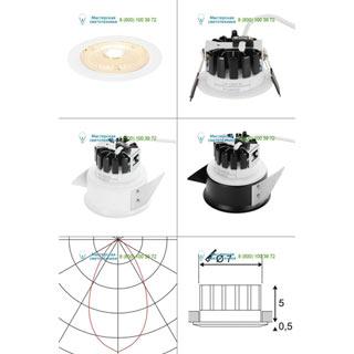 114061 SLV by Marbel F-LIGHT, IP 20/65 светильник встраиваемый огнестойкий 350mА с LED 6,35Вт, 3000К, 690лм, 60°, белый