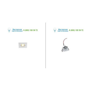 114411 SLV by Marbel NEW TRIA MINI DL SQUARE светильник с LED 2.2Вт, 3000K, 30°, 143lm, белый