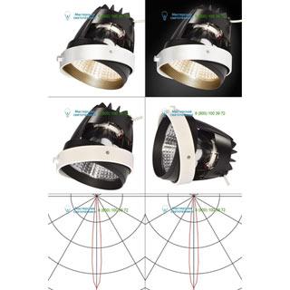 115221 SLV by Marbel AIXLIGHT® PRO, COB LED MODULE «BAKED GOODS» светильник 700мА с LED 26Вт, 3200K, 1650лм, 12°, белый