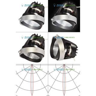 115231 SLV by Marbel AIXLIGHT® PRO, COB LED MODULE «FRESH» светильник 700мА с LED 26Вт, 4200K, 1950лм, 12°, CRI90, серебр