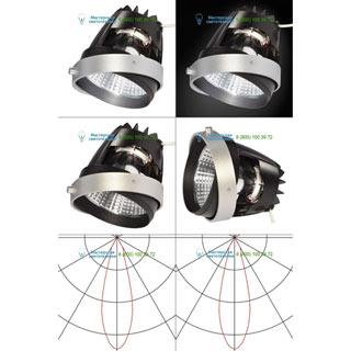 115233 SLV by Marbel AIXLIGHT® PRO, COB LED MODULE «FRESH» светильник 700мА с LED 26Вт, 4200K, 1950лм, 30°, CRI90, серебр