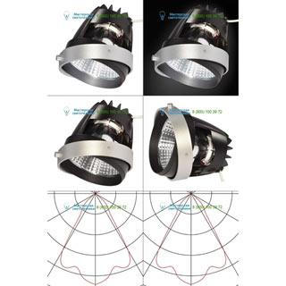 115237 SLV by Marbel AIXLIGHT® PRO, COB LED MODULE «FRESH» светильник 700мА с LED 26Вт, 4200K, 1950лм, 70°, CRI90, серебр