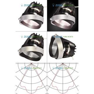 115247 SLV by Marbel AIXLIGHT® PRO, COB LED MODULE «MEAT» светильник 700мА с LED 26Вт, 3600K, 1300лм, 70°, серебр.