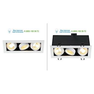 115531 SLV by Marbel KADUX 3 GU10 светильник встраиваемый для 3-х ламп GU10 по 50Вт макс., белый