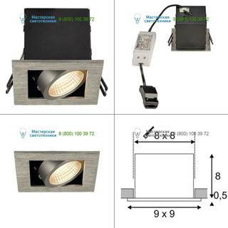 115706 SLV by Marbel KADUX 1 LED SET, светильник с COB LED 6.2Вт (9Вт), 3000К, 625lm, 38°, с бл. питания, матир. алюминий