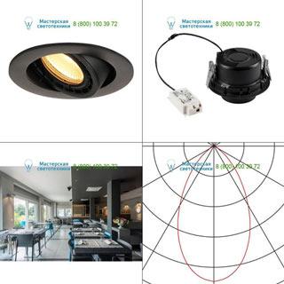 116310 SLV by Marbel SUPROS 78 DL светильник встраиваемый с LED 9Вт (12Вт), 3000К, 700лм, 60°, черный