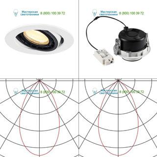 116311 SLV by Marbel SUPROS 78 DL светильник встраиваемый с LED 9Вт (12Вт), 3000К, 700лм, 60°, белый