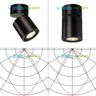 118130 SLV by Marbel SUPROS CL светильник потолочный с LED 33.5Вт (37.5Вт), 3000К, 3150лм, 60°, черный