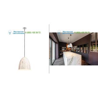 133018 SLV by Marbel PARA CONE 30 светильник подвесной для лампы E27 60Вт макс., белый под мрамор