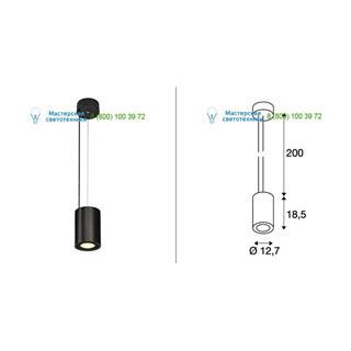 133140 SLV by Marbel SUPROS PD светильник подвесной с LED 33.5Вт (37.5Вт), 3000К, 3150лм, 60°, черный
