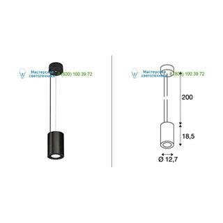 133150 SLV by Marbel SUPROS PD светильник подвесной с LED 33.5Вт (37.5Вт), 4000К, 3150лм, 60°, черный