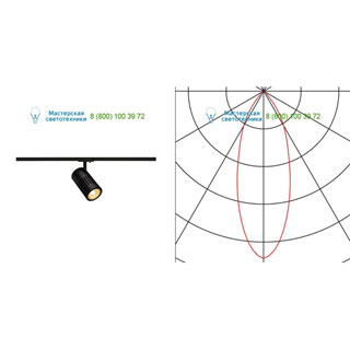 144100 SLV by Marbel 1PHASE-TRACK, STRUCTEC светильник с LED 24Вт (29Вт), 3000К, 2220лм, 36°, черный