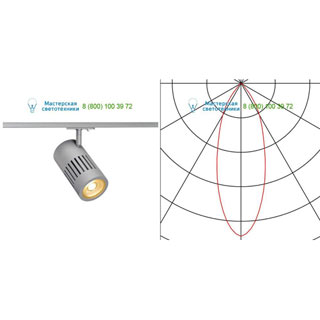 144104 SLV by Marbel 1PHASE-TRACK, STRUCTEC светильник с LED 24Вт (29Вт), 3000К, 2220лм, 36°, серебристый