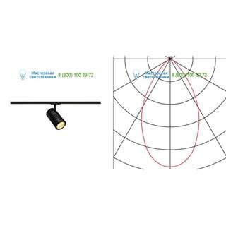 144110 SLV by Marbel 1PHASE-TRACK, STRUCTEC светильник с LED 24Вт (29Вт), 4000К, 2360лм, 36°, черный
