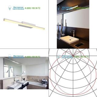 146804 SLV by Marbel GLENOS WL-1 светильник накладной с LED 12.6Вт (17Вт), 3000К, 1000лм, серебристый